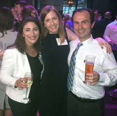 Sosan Madanat (Executive Director for the Foundation for Democracy and Justice), Barristers' board member Lauren Foust, & Anthony Bento enjoying the Summer Associates Reception