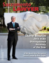 SCBA Sacramento Lawyer Nov/Dec featuring Distinguished Attorney