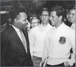 Steve Boutin with Dr. Martin Luther King, Jr. in early 1967