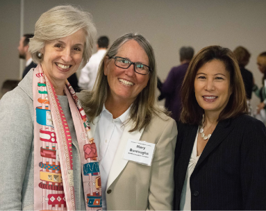Judge Kim Mueller, SCBA Executive Director Mary Burroughs, & Chief Justice Tani Cantil-Sakauye
